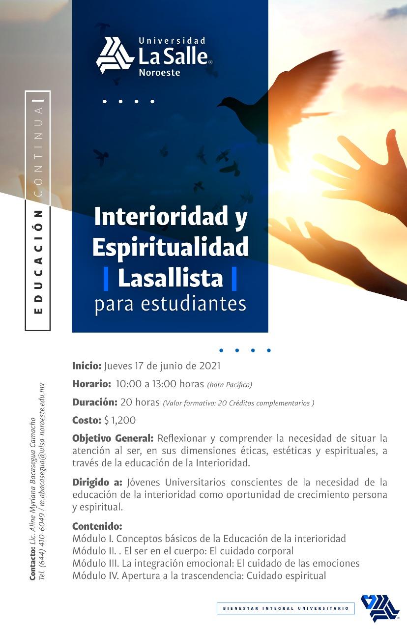 Interioridad y Espiritualidad para Alumnos_verano 2021